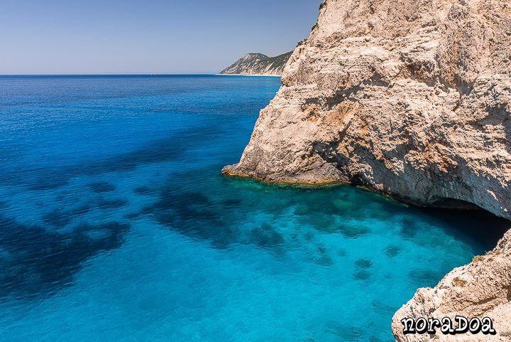 Playa Porto Katsiki, una de las más visitadas de la isla Lefkada (Grecia)