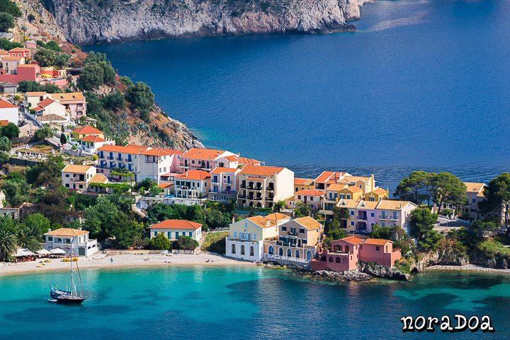 Pueblo de Assos, Kefalonia (Grecia)