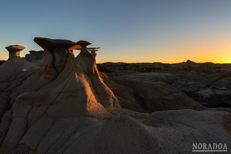 Bisti Badlans, Nuevo México (Estados Unidos)