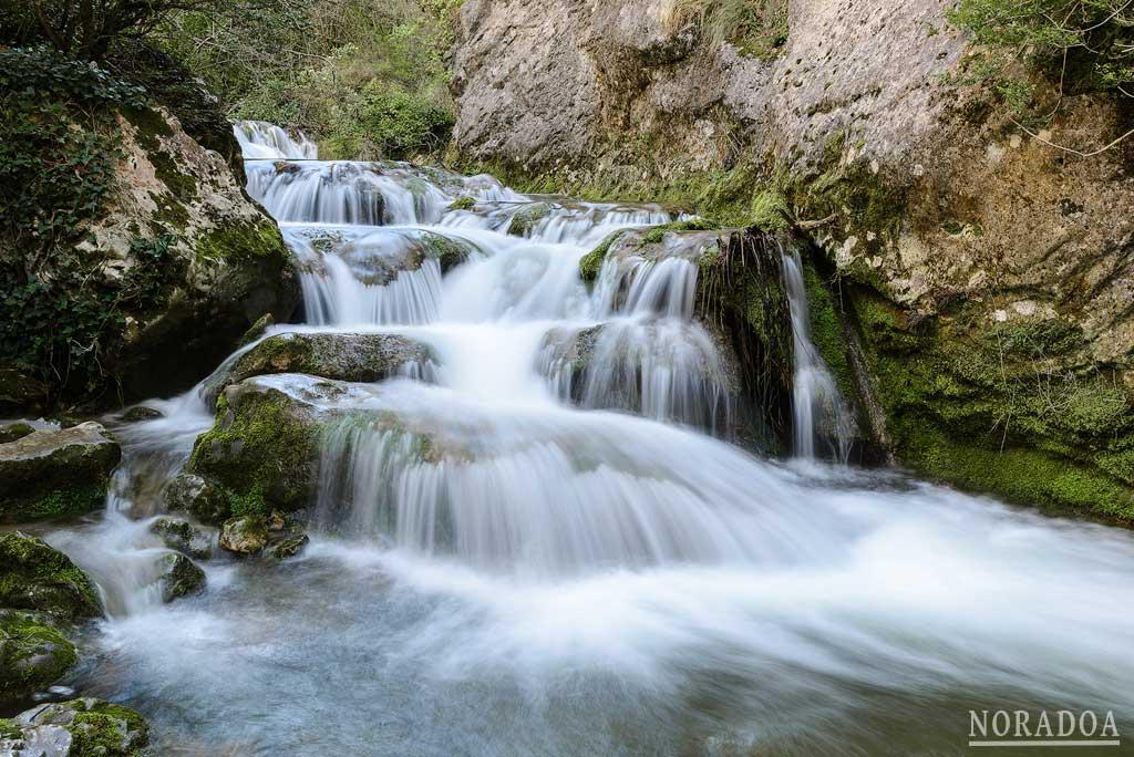 Cascadas del río Purón en Valderejo