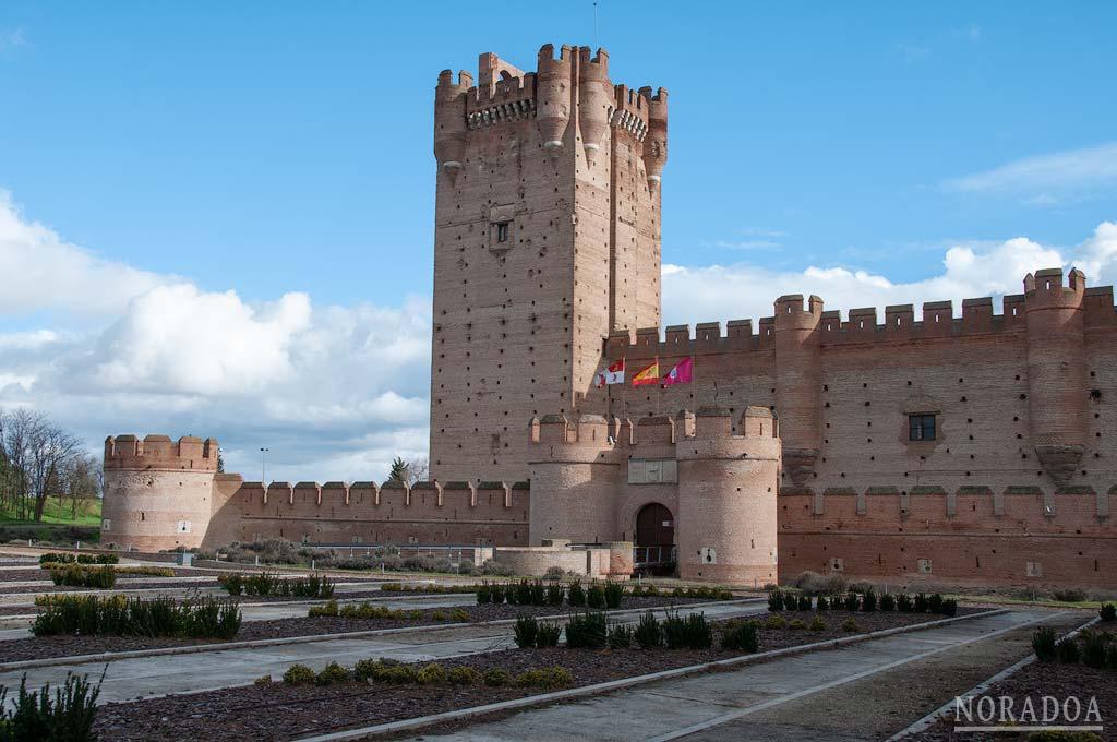 Castillo de La Mota en la localidad de Medina del Campo