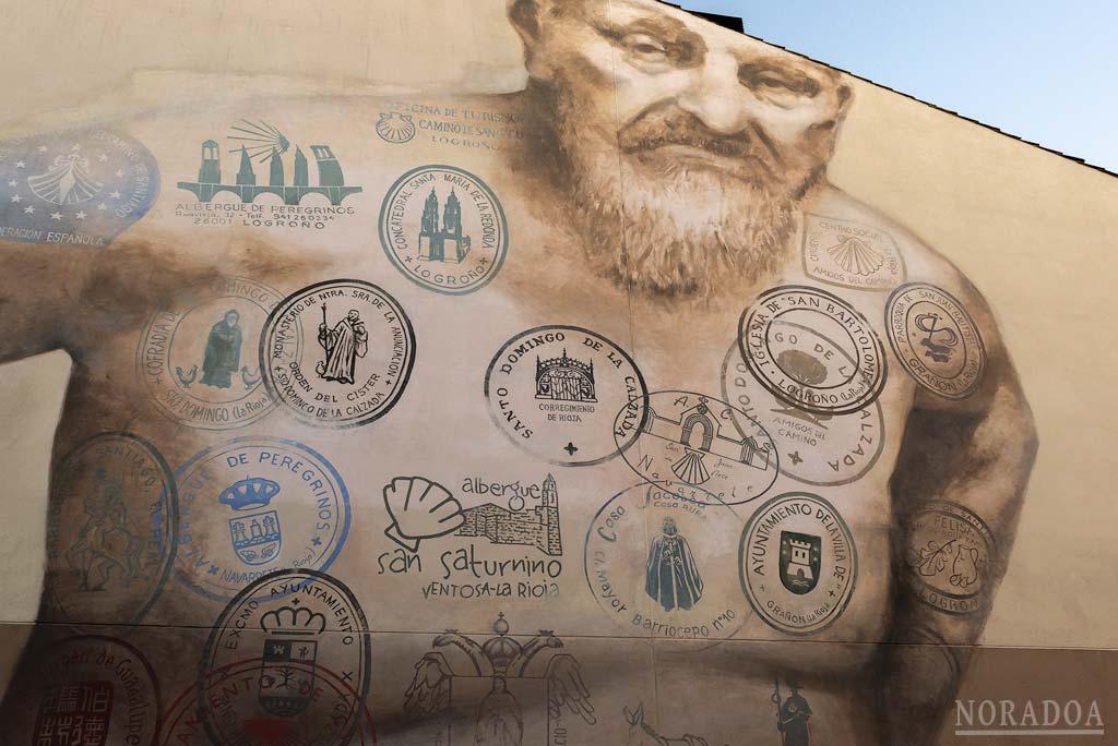 Mural del Peregrino en Logroño