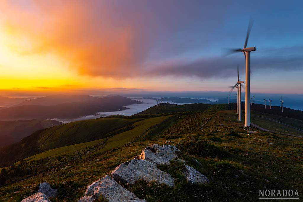 Parque eólico del monte Oiz